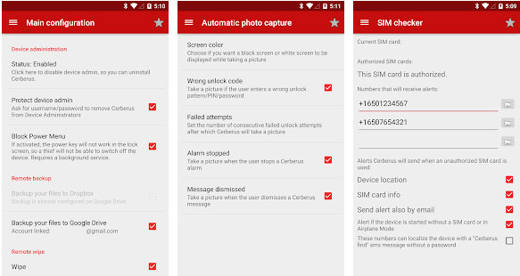 Cerberus Phone Security (Antitheft)