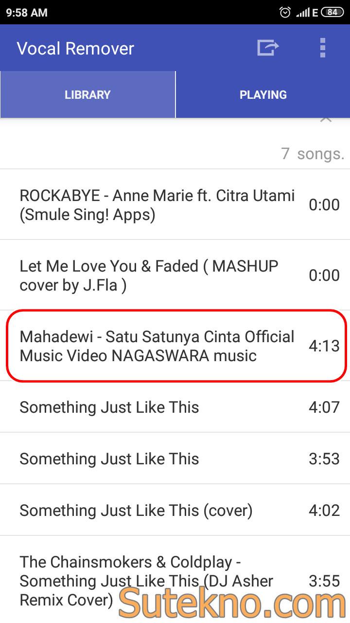 Cara Menghilangkan Vokal Pada Lagu Android (Bersih)