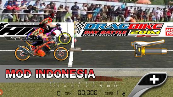 Download Drag Bike Indonesia 201 M Mod apk Versi Terbaru