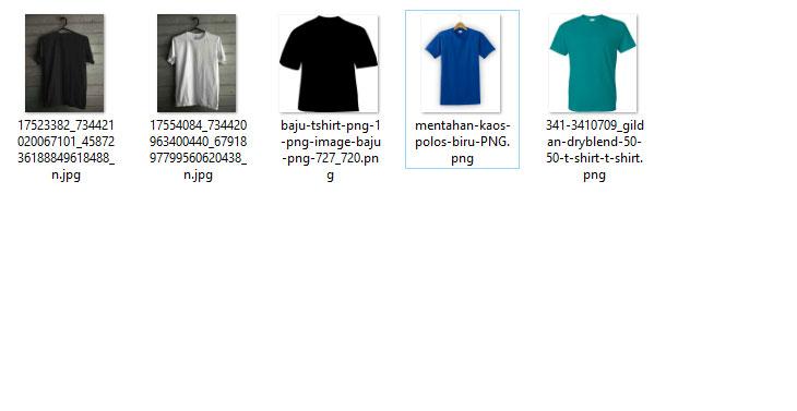 Mentahan Baju / Kaos